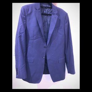 Versace Collection 2 Piece Blue Pinstripe Suit